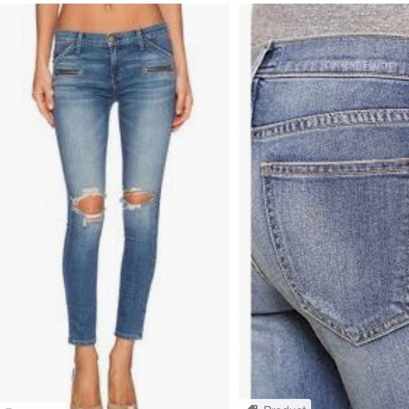 Current/Elliott Denim - Current Elliott - The Stiletto Biker Jean